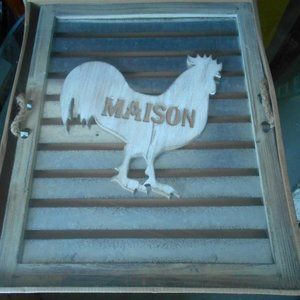 BRAND NEW IN BOX ROOSTER ART DECOR.  FARM HOUSE.